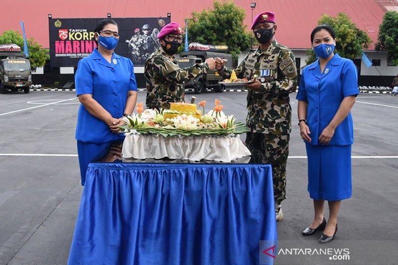 HUT ke-75 Korps Marinir TNI AL diperingati di Manado