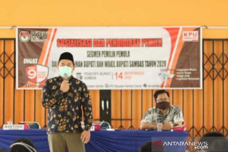 KPU Sambas optimistis protokol kesehatan diterapkan dengan baik di TPS