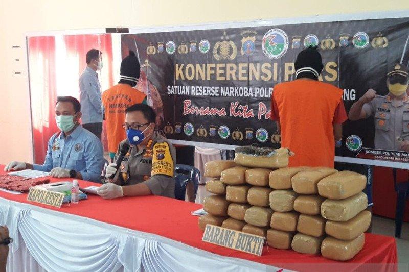 Polresta Deli Serdang gagalkan peredaran 26 kilo ganja asal Aceh