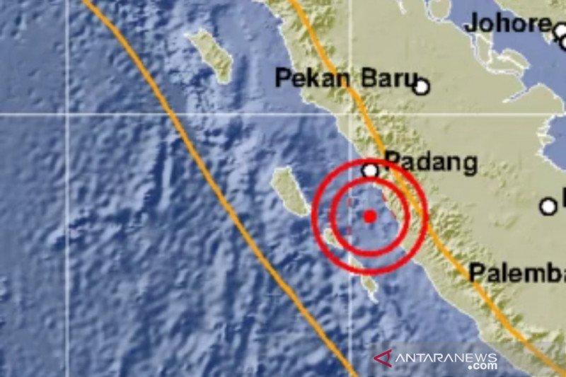 Pesisir Selatan Sumbar diguncang gempa tektonik magnitudo 5,3