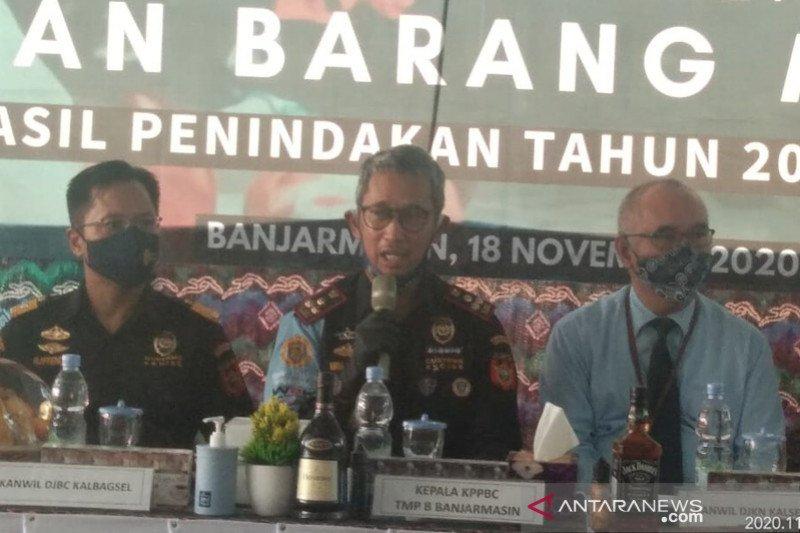 Bea Cukai Banjarmasin musnahkan barang ilegal Rp5,2 miliar