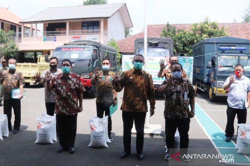 Bansos beras tahap tiga Kabupaten Bogor mulai didistribusikan