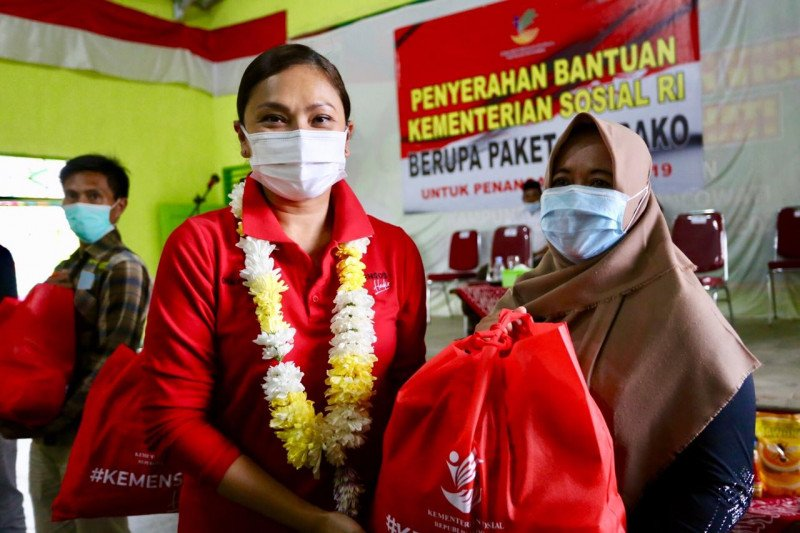 Kemensos RI salurkan sembako senilai Rp900 juta di Lampung