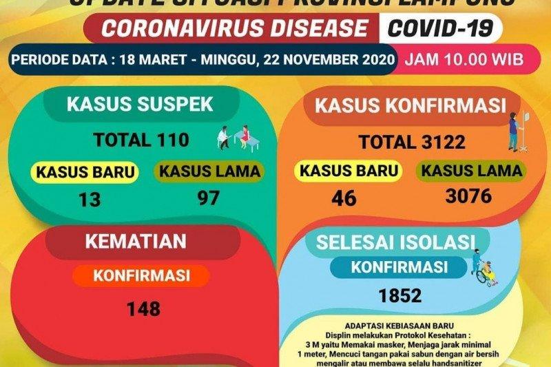 Jumlah pasien sembuh dari COVID-19 di Lampung bertambah 88
