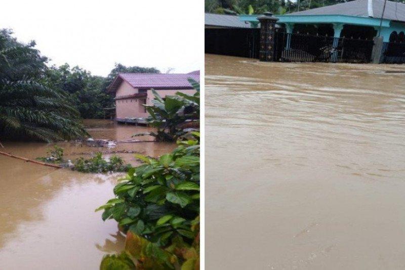 Sungai meluap, 1.078 rumah di Kabupaten Langkat-Sumut terendam banjir