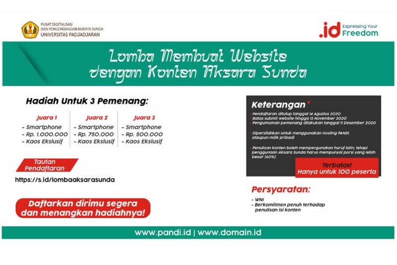 Pendaftaran lomba web aksara Sunda diperpanjang