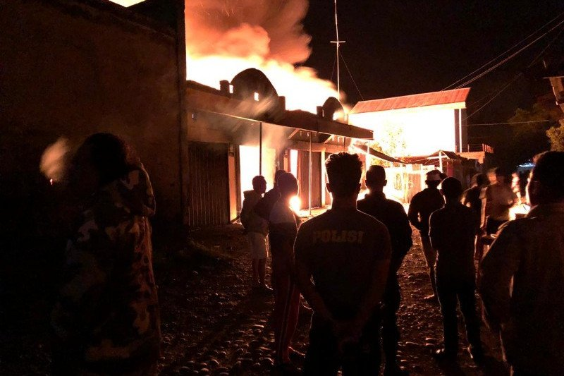Polisi selidiki kebakaran di Wamena menewaskan satu orang