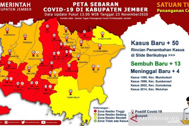 15 Kecamatan di Jember zona merah penyebaran COVID-19