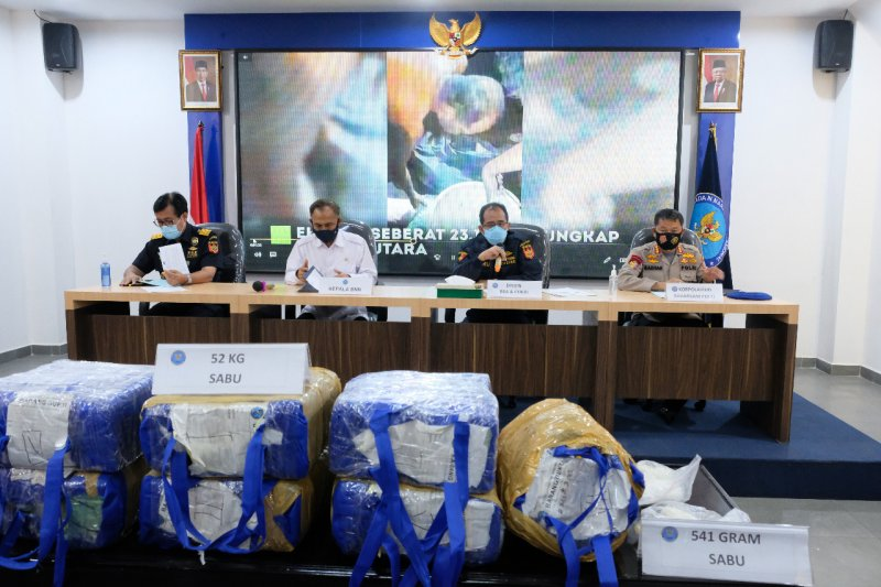 DJBC-BNN-Polri amankan 85,5 kilogram sabu dari operasi laut gabungan