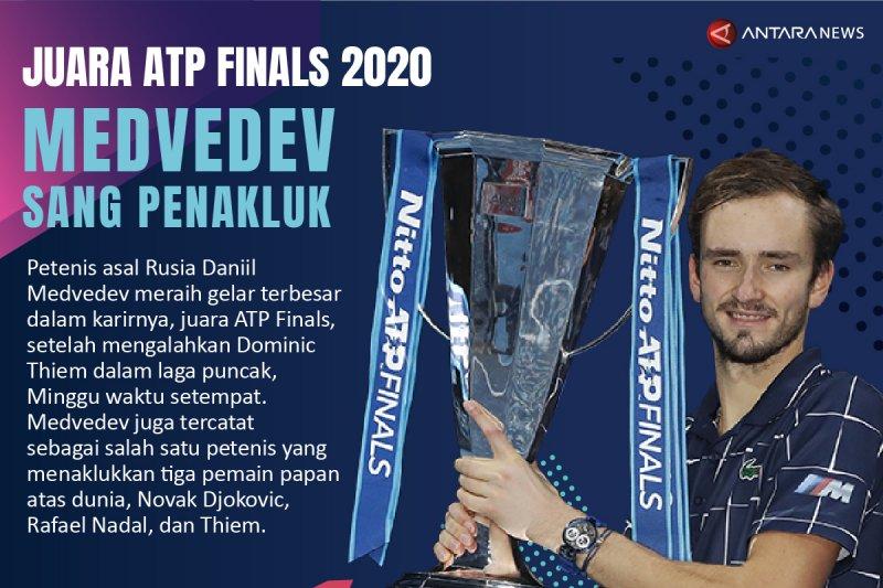 Juara ATP Finals 2020: Medvedev sang penakluk