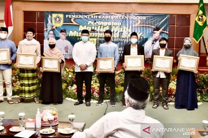 Pemkab Bogor umumkan pemenang lomba antarsantri secara virtual