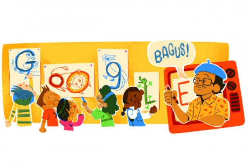 Google Doodle mengenang Tino Sidin