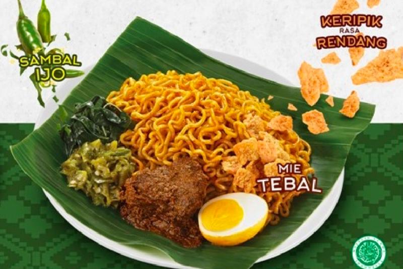 Kelezatan nasi Padang dikemas ke dalam mie instan