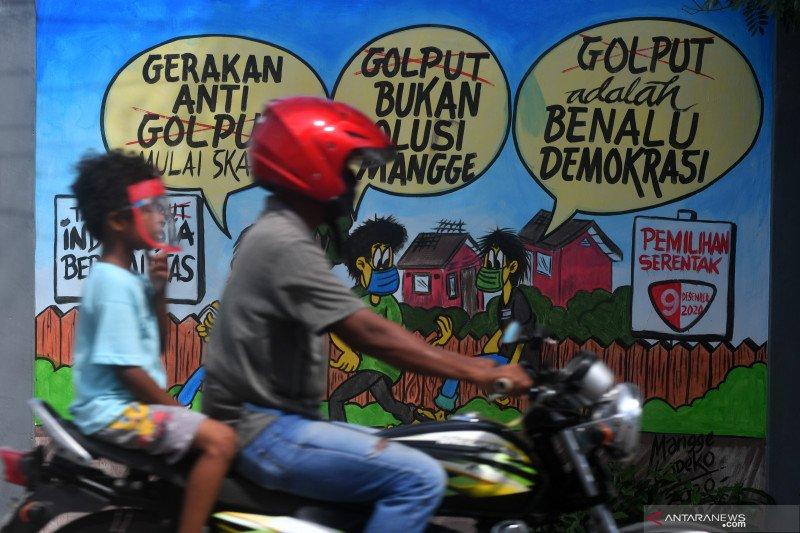 Mural sosialisasi Pilkada serentak 9 Desember