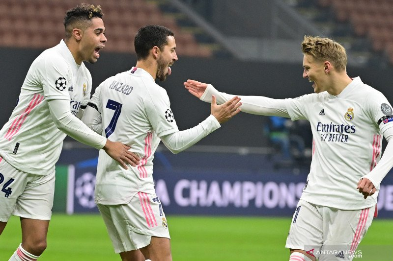 Real Madrid curi kemenangan 2-0 di markas Inter Milan