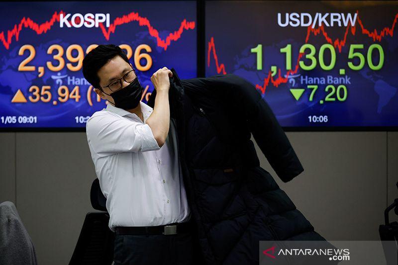 Saham Korea Selatan untung, terkerek asing beli saham domestik