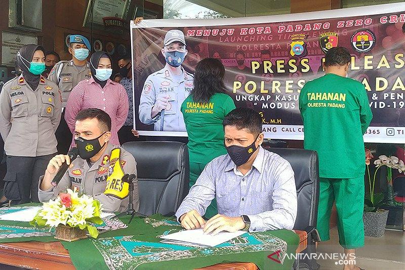 Polresta Padang tangkap Tim Satgas COVID-19 gadungan