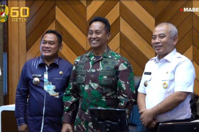 Bupati dan Wali Kota Bekasi temui Kasad bahas penanganan hunian kumuh