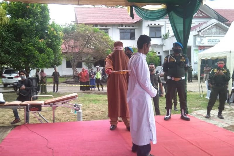 Terpidana pemerkosaan anak di Aceh dihukum 150 kali cambuk