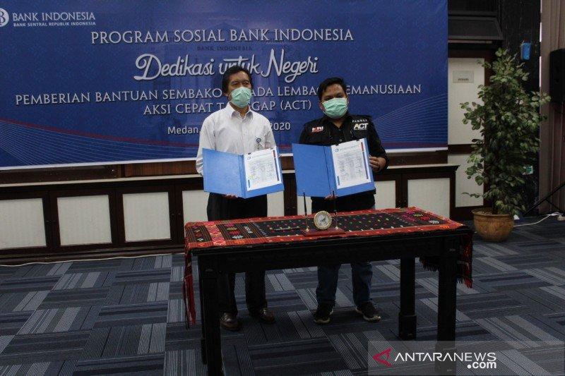ACT Sumut terima bantuan 600 paket sembako dari Bank Indonesia