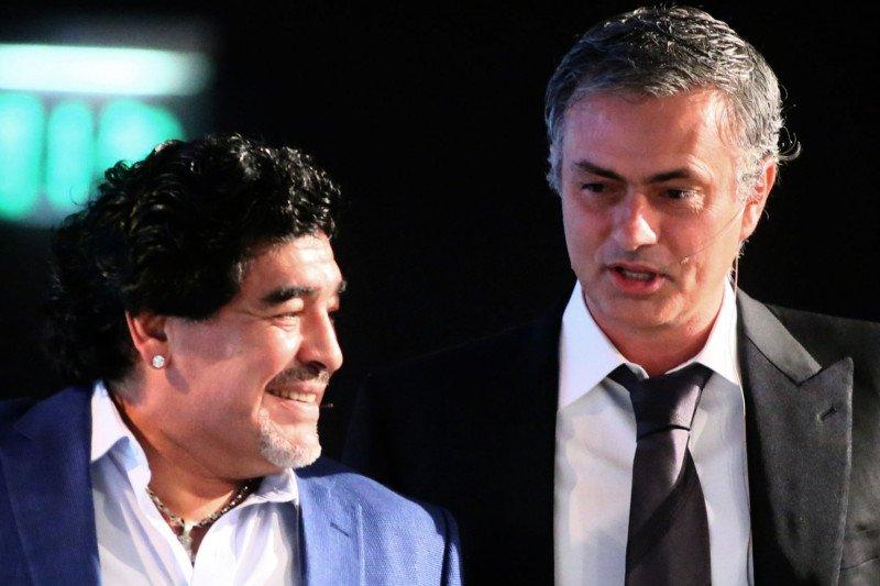 Jose Mourinho ungkapkan hubungannya dengan Diego Maradona
