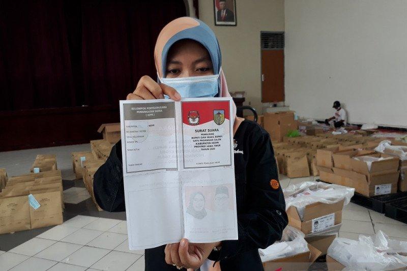 KPU Kabupaten Kediri amankan surat suara rusak saat disortir