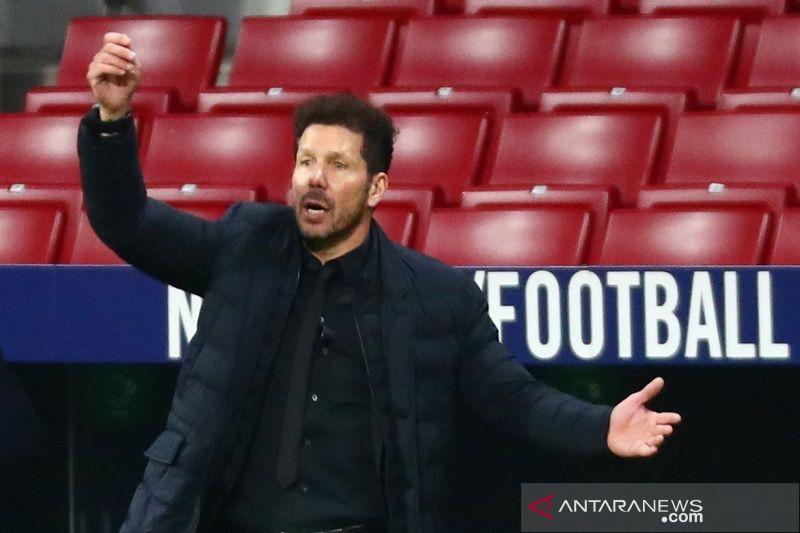 Enam pemain Atletico absen lawan Valencia, Simeone ikut kritik jadwal