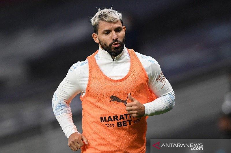 Sergio Aguero akan main sejak awal dalam laga Piala FA