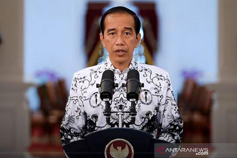 Presiden Jokowi apresiasi dan sampaikan terima kasih pada guru