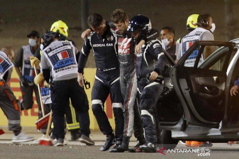 Haas perkirakan Grosjean akan tinggal di rumah sakit hingga Selasa