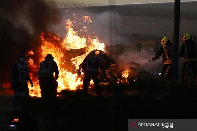 FIA mulai investigasi kecelakaan Grosjean di Grand Prix Bahrain