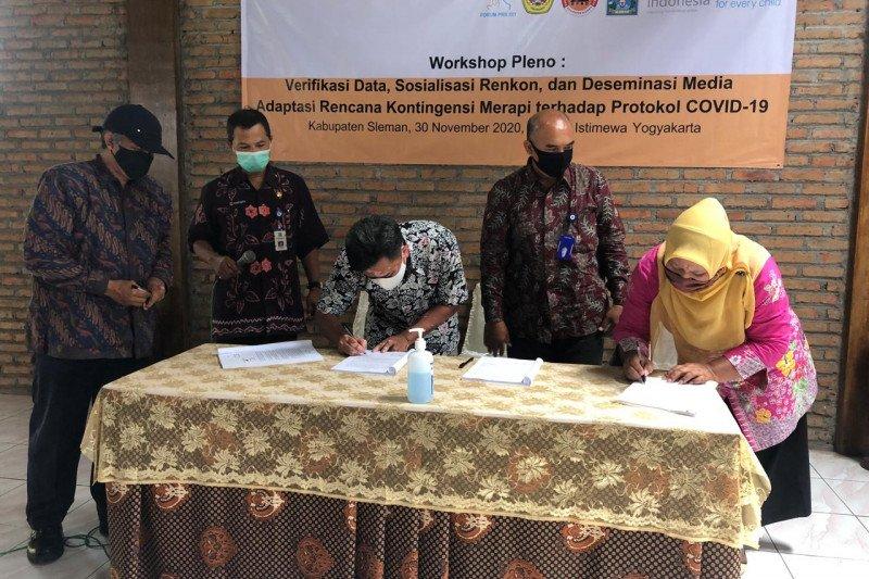 7 desa KRB III Merapi di Sleman tanda tangan renkon erupsi Merapi