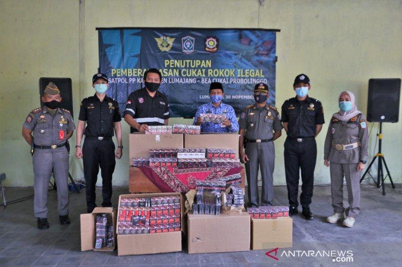 Bea Cukai dan Satpol PP Lumajang amankan ribuan rokok ilegal