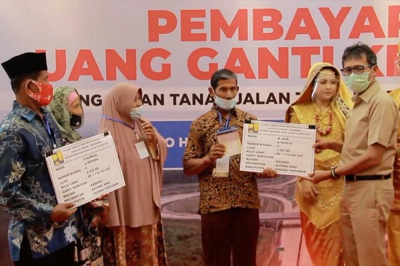 BPN ganti rugi lahan seksi I Tol Padang-Pekanbaru