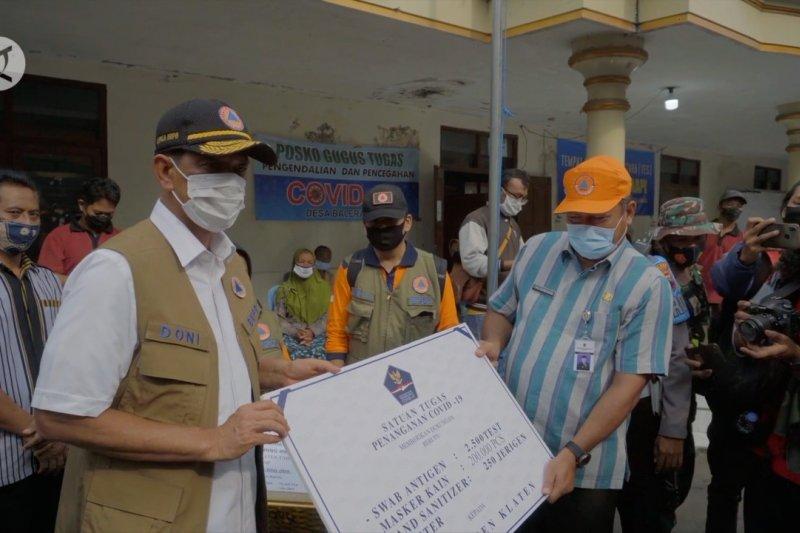 Kepala BNPB menemui pengungsi Merapi di Balerante Klaten