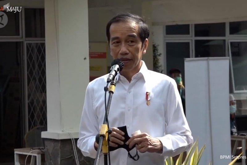 Ini kata Jokowi soal vaksin, usai kunjungi tempat simulasi