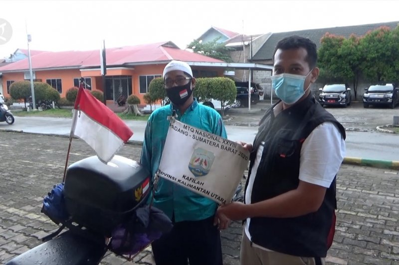 Perjuangan kafilah MTQ utusan Kaltara naik motor ke Padang