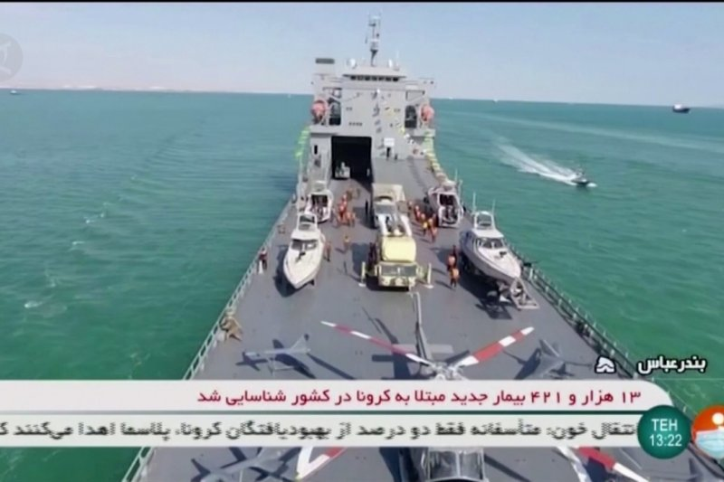 Iran resmikan kapal perang yang mampu angkut pesawat terbang