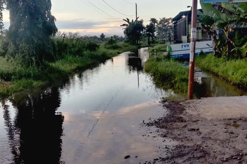 Banjir menggenangi ratusan rumah warga di Majenang, Cilacap