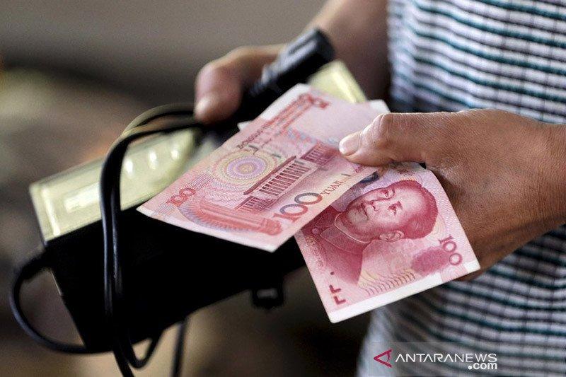 """Yuan """"rebound"""" 164 basis poin terhadap dolar AS"""