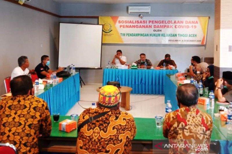 Kejati Aceh sosialisasi pencegahan korupsi dana COVID-19 di Aceh Barat