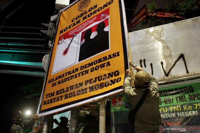 Penertiban Alat Peraga Kampanye di masa tenang Pilkada serentak