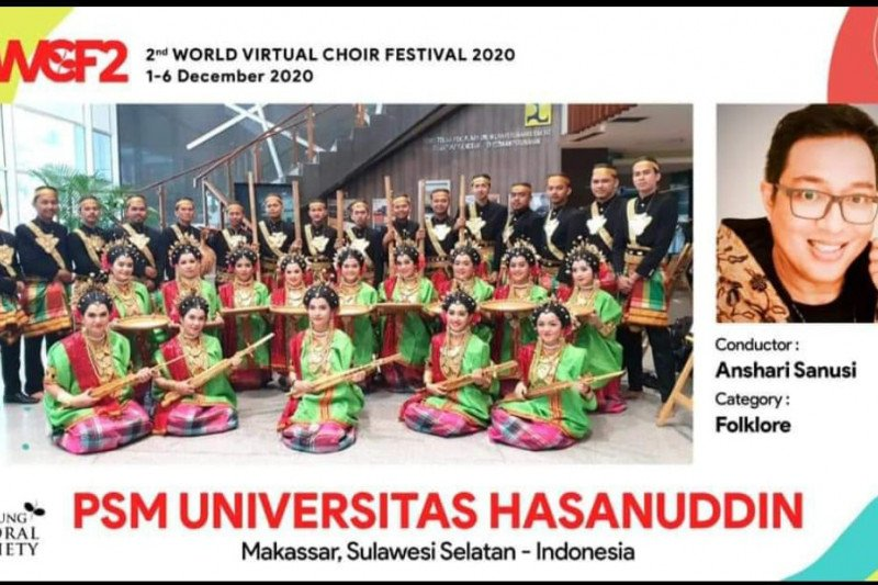 "PSM Unhas raih emas ""World Virtual Choir Festival 2020"""