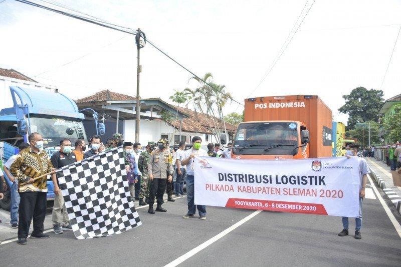 KPU Sleman distribusikan logistik Pilkada dengan prokes ketat