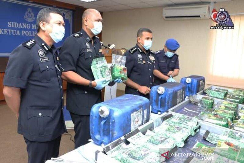 Penyelundupan narkoba dari Johor ke Indonesia digagalkan