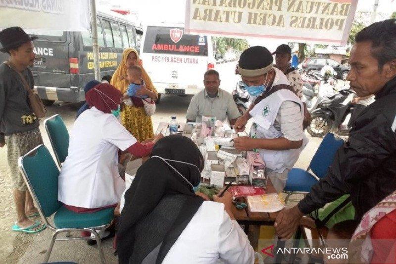 Korban banjir di Aceh Utara keluhkan gatal-gatal dan ISPA