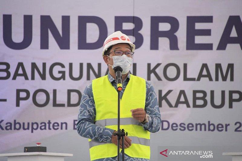 Kolam retensi untuk mencegah banjir mulai dibangun di Bandung