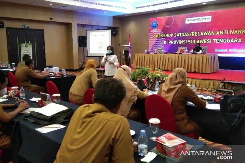 BNNP Sultra libatkan OPD jadi relawan antinarkoba