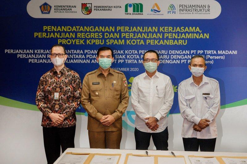 PT PP tanda tangani proyek KPBU air bersih di Pekanbaru