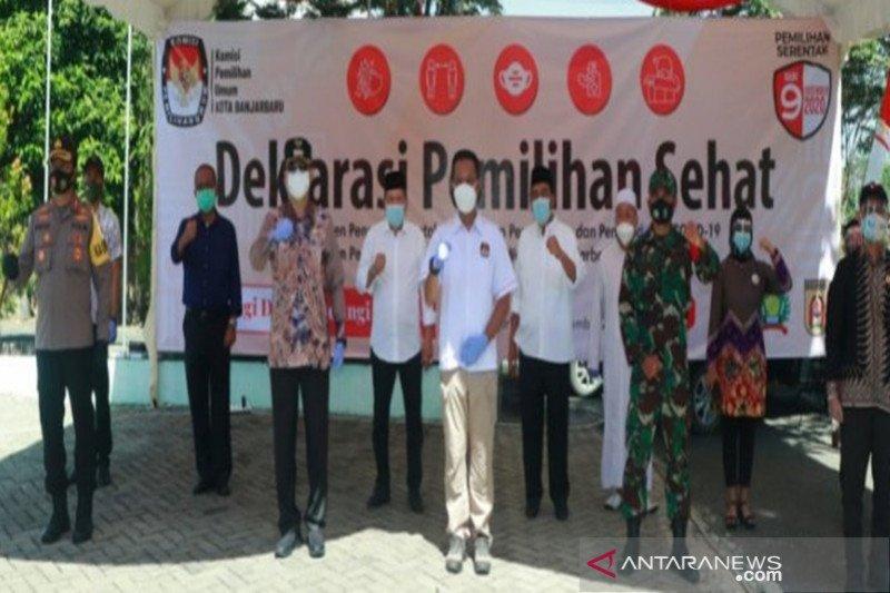 Partisipasi pemilih pada Pilkada Kota Banjarbaru 69,3 persen